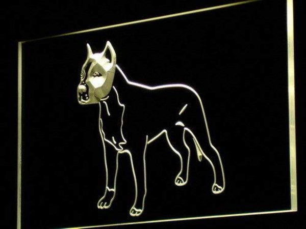 American Staffordshire Terrier LED Neon Light Sign  Business > LED Signs > Dog Neon Signs - Way Up Gifts