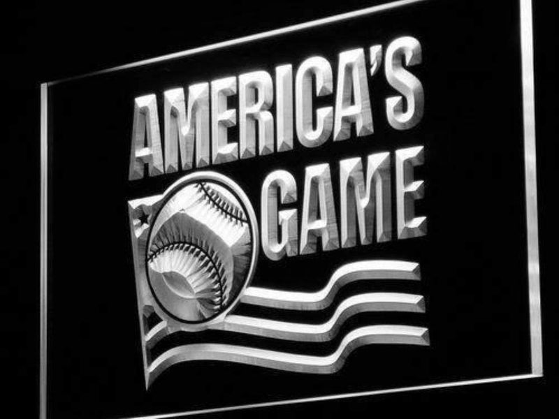 America's Game Baseball LED Neon Light Sign - Way Up Gifts