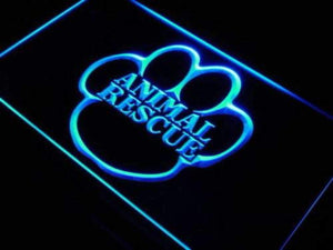 Animal Rescue Neon Sign (LED)-Way Up Gifts