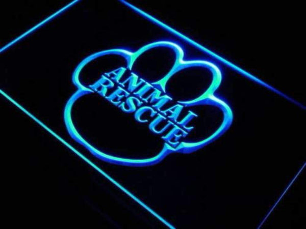 Animal Rescue LED Neon Light Sign  Business > LED Signs > Dog Neon Signs - Way Up Gifts