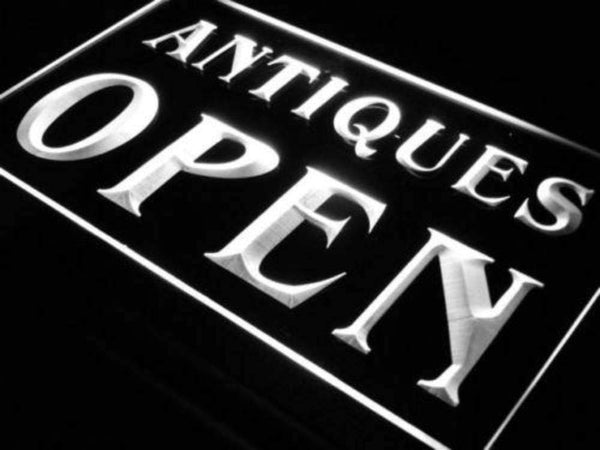 Antique Store Open Neon Sign (LED)-Way Up Gifts