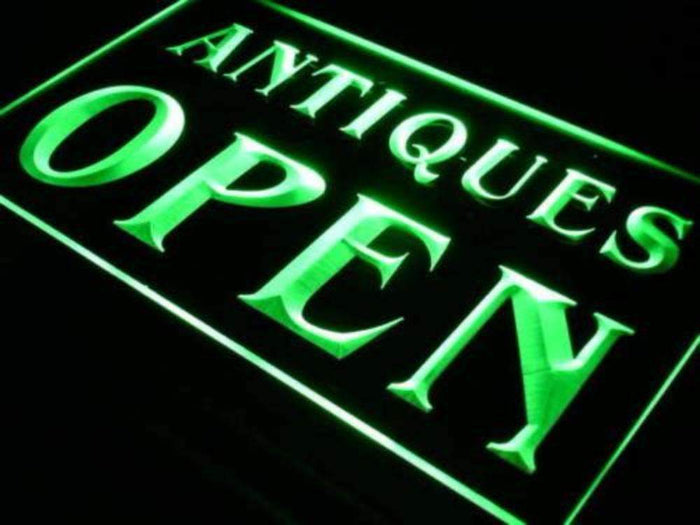 Antique Store Open Neon Sign (LED)