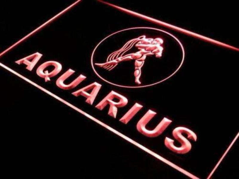 Astrology Zodiac Aquarius LED Neon Light Sign - Way Up Gifts