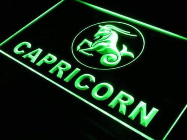Astrology Zodiac Capricorn Neon Sign (LED)-Way Up Gifts