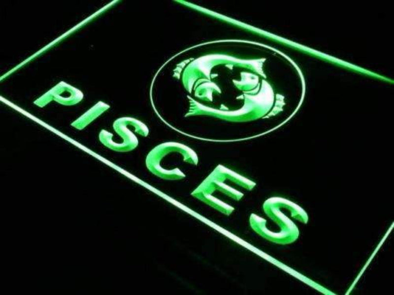 Astrology Zodiac Pisces LED Neon Light Sign - Way Up Gifts