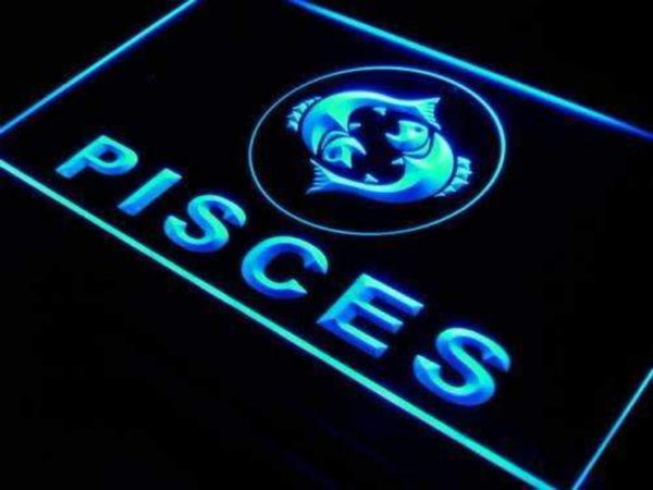 Astrology Zodiac Pisces Neon Sign (LED)-Way Up Gifts