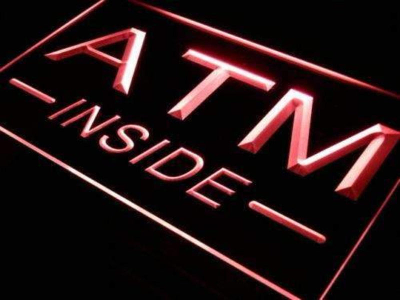 ATM Inside LED Neon Light Sign - Way Up Gifts