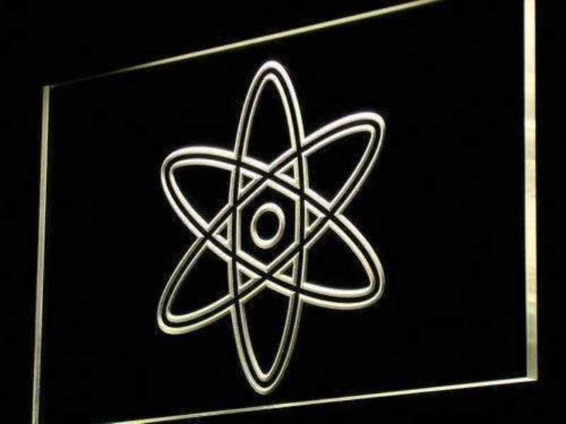 Atom Symbol Science LED Neon Light Sign - Way Up Gifts