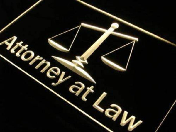 Attorney At Law LED Neon Light Sign - Way Up Gifts