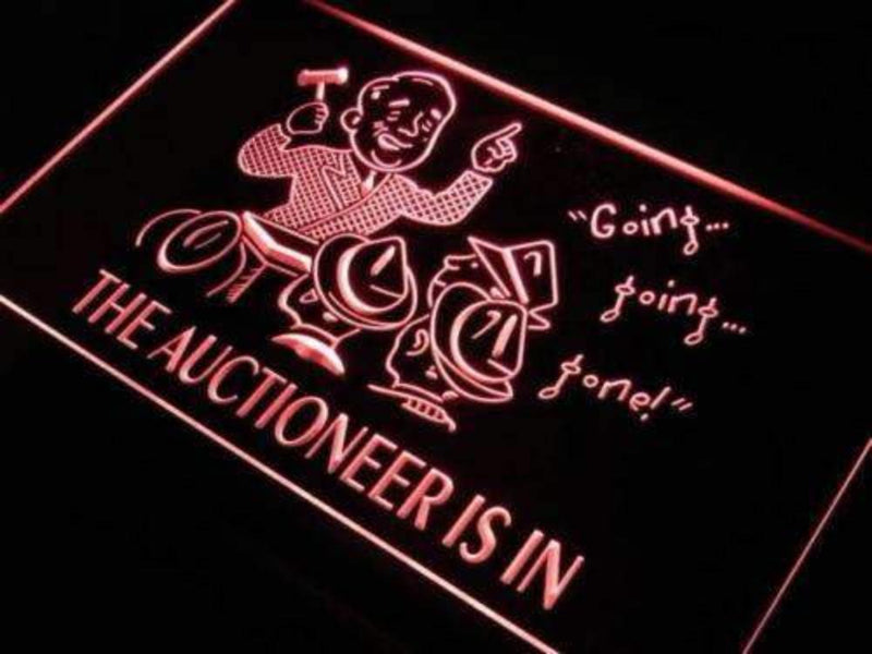 Auctioneer is In Auction LED Neon Light Sign - Way Up Gifts