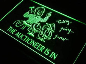 Auctioneer is In Auction Neon Sign (LED)-Way Up Gifts