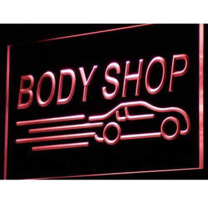 Auto Body Shop Car Neon Sign (LED)-Way Up Gifts