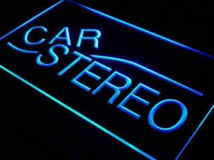 Auto Body Shop Car Stereo Audio Neon Sign (LED)-Way Up Gifts