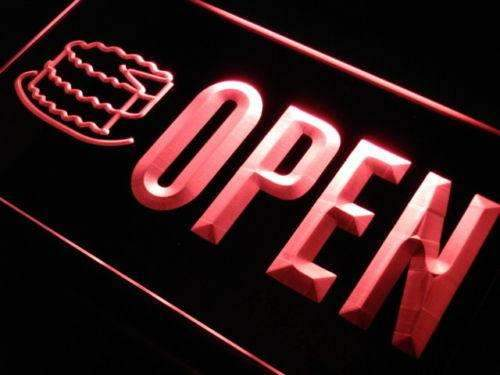 Bakery Cake Open Neon Sign (LED)-Way Up Gifts