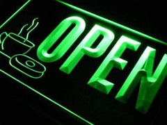 Bakery Coffee Donuts Open LED Neon Light Sign
