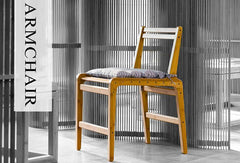 Handcrafted Bamboo Armchair Dining Chair
