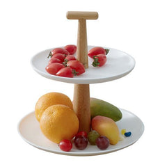 Handcrafted Bamboo Cake Stand, Fruit Tray