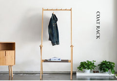 Handcrafted Bamboo Clothes Rack / Coat Rack
