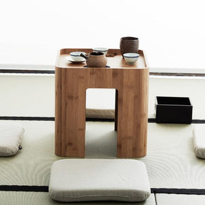 Bamboo Multi Function Tea/Coffee Table w/ Four Cushions