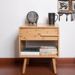 Handcrafted Bamboo Nightstand, Bedside Table