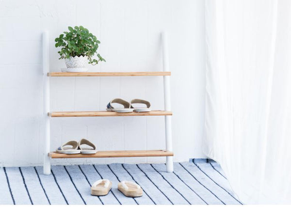 Handcrafted Bamboo Shoe Rack - Way Up Gifts