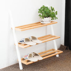Handcrafted Bamboo Shoe Rack