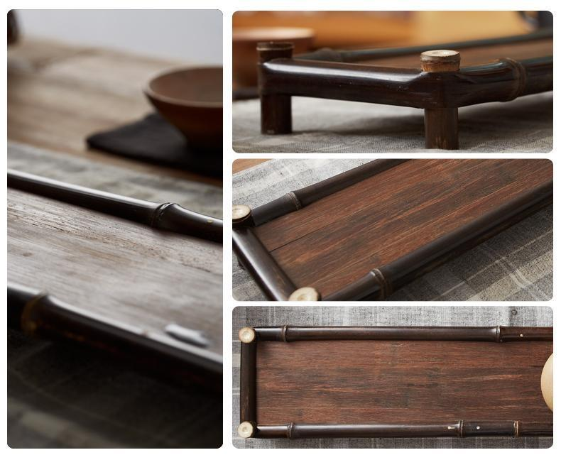 Handcrafted Bamboo Tea/Coffee Serving Tray - Way Up Gifts