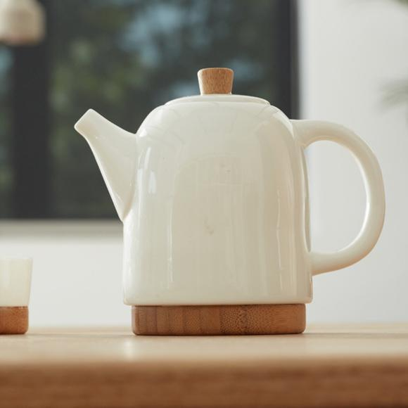 Handcrafted Bamboo/Ceramic Teapot Set - Way Up Gifts