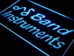 Band Instruments Store LED Neon Light Sign