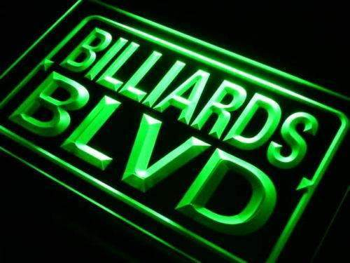 Bar Decor Billiards Boulevard LED Neon Light Sign - Way Up Gifts