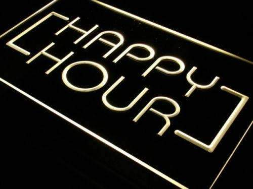 Bar Happy Hour LED Neon Light Sign  Business > LED Signs > Beer & Bar Neon Signs - Way Up Gifts