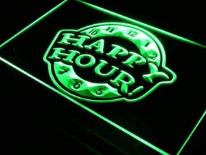 Bar Happy Hour Neon Sign (LED)-Way Up Gifts
