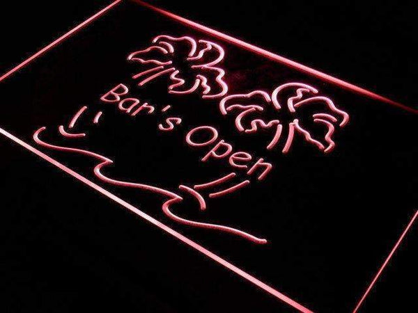 Bar is Open Palm Trees LED Neon Light Sign - Way Up Gifts