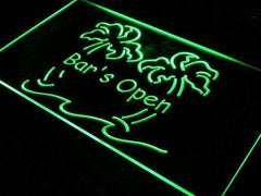 Bar is Open Palm Trees LED Neon Light Sign