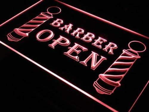 Barber Poles Open LED Neon Light Sign - Way Up Gifts