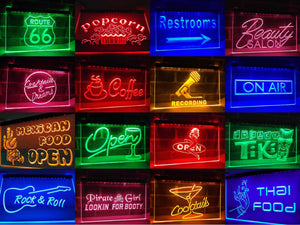 Barber Poles Open Neon Sign (LED)-Way Up Gifts