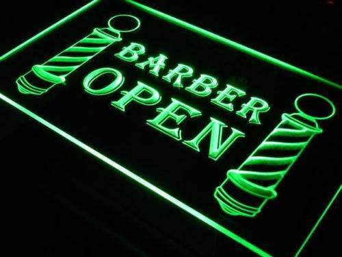 Barber Poles Open Neon Sign (LED)