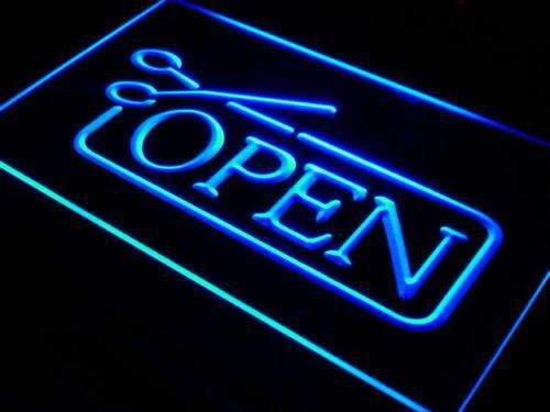 Barber Salon Haircut Open LED Neon Light Sign - Way Up Gifts