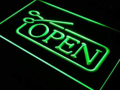 Barber Salon Haircut Open LED Neon Light Sign