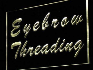Beauty Salon Eyebrow Threading Neon Sign (LED)-Way Up Gifts
