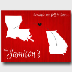 Personalized Because We Fell in Love Canvas