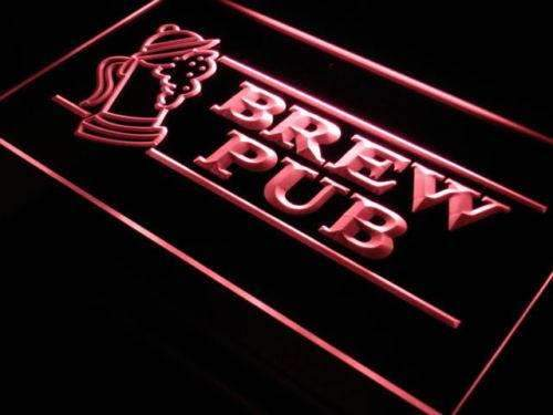 Beer Brew Pub Neon Sign (LED)-Way Up Gifts