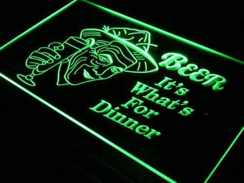 Beer It's Whats for Dinner LED Neon Light Sign - Way Up Gifts