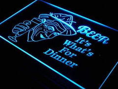 Beer It's Whats for Dinner LED Neon Light Sign
