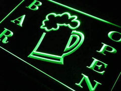 Beer Mug Bar Open LED Neon Light Sign