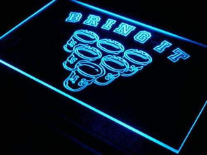 Beer Pong Bring It Neon Sign (LED)-Way Up Gifts