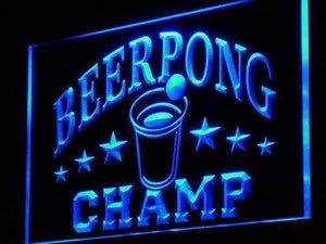 Beer Pong Champ Neon Sign (LED)-Way Up Gifts