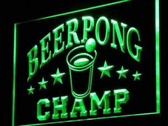 Beer Pong Champ LED Neon Light Sign