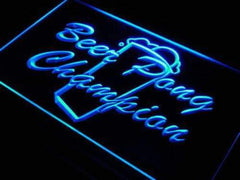 Beer Pong Champion LED Neon Light Sign