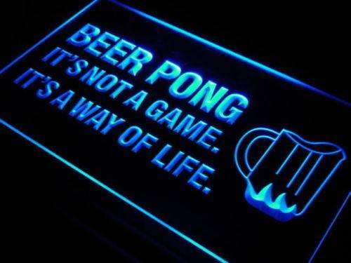 Beer Pong It's Not a Game LED Neon Light Sign - Way Up Gifts